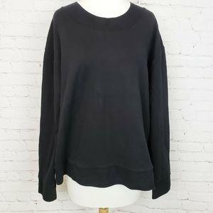 GapFit Side Zip Pullover Sweater Round Neck Black